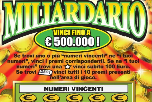 """Altavilla Irpina  """"Gratta e vinci"""" da mezzo milione di euro, è caccia al fortunato giocatore"""