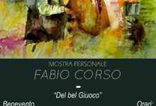 """Benevento  """"Del bel Giuoco"""", domani l'inaugurazione della mostra personale di Fabio Corso"""