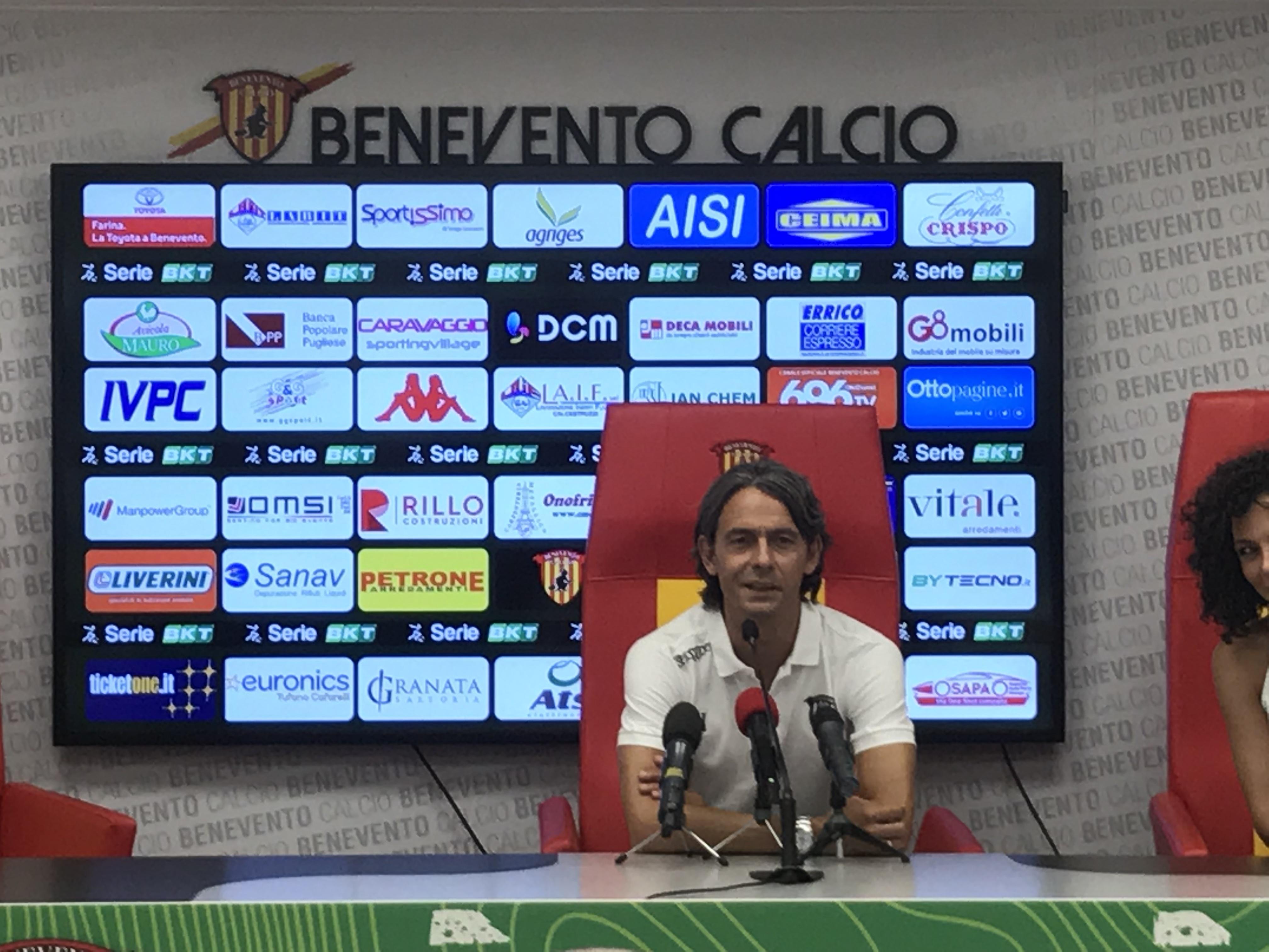 """Benevento, Inzaghi alla vigilia di Coppa: """"Il Vigorito la nostra arma in più"""""""