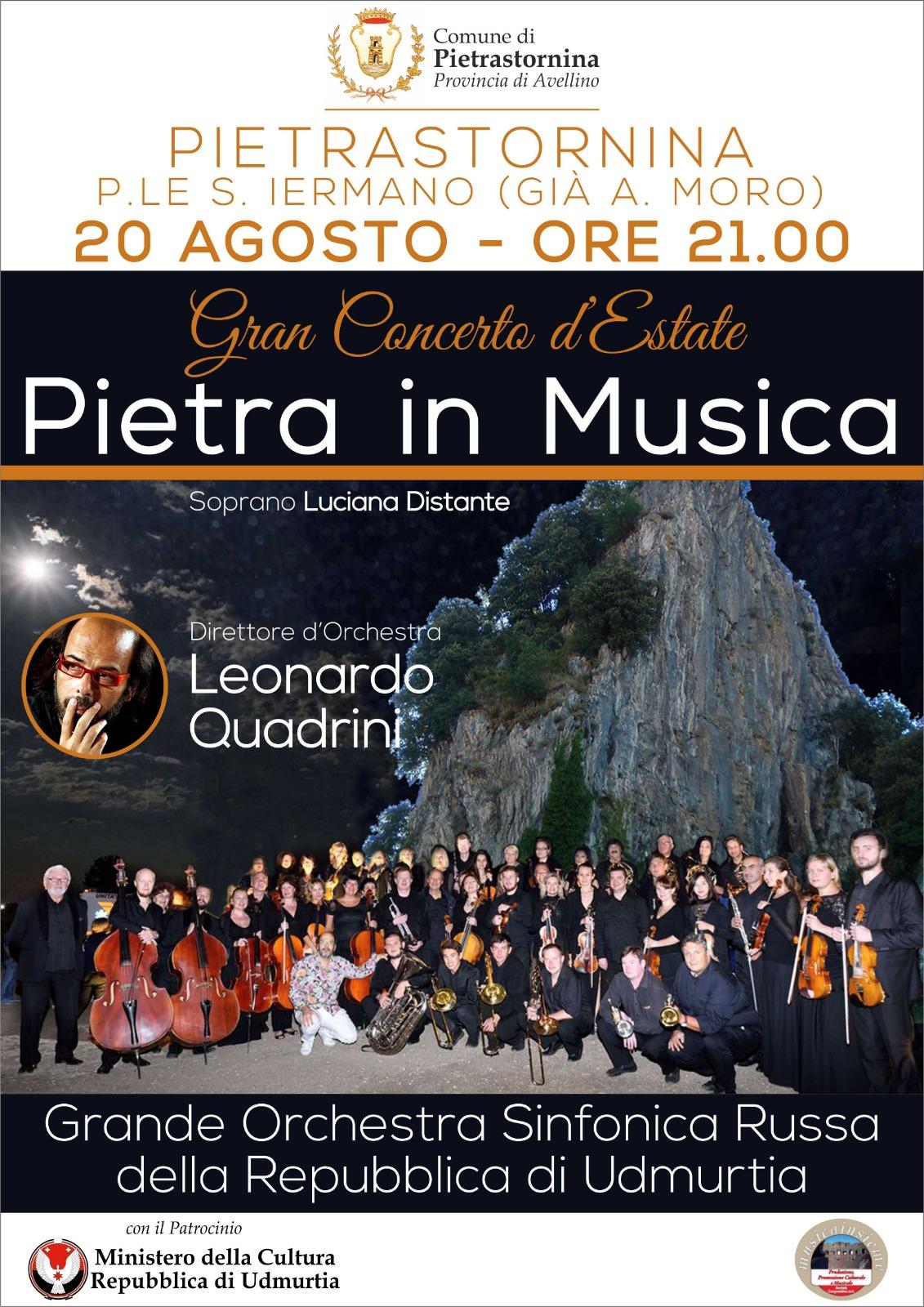 Pietrastornina| Grande concerto d'estate con orchestra della Repubblica Russa di Udmurtia