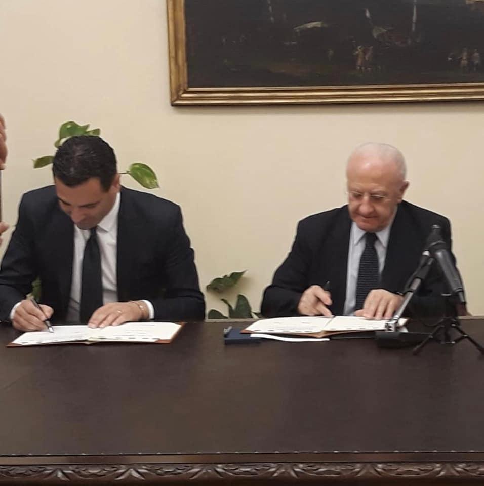 Firmato l'accordo alla Regione sui fondi Pics, Festa: Avellino sarà una Enjoy City