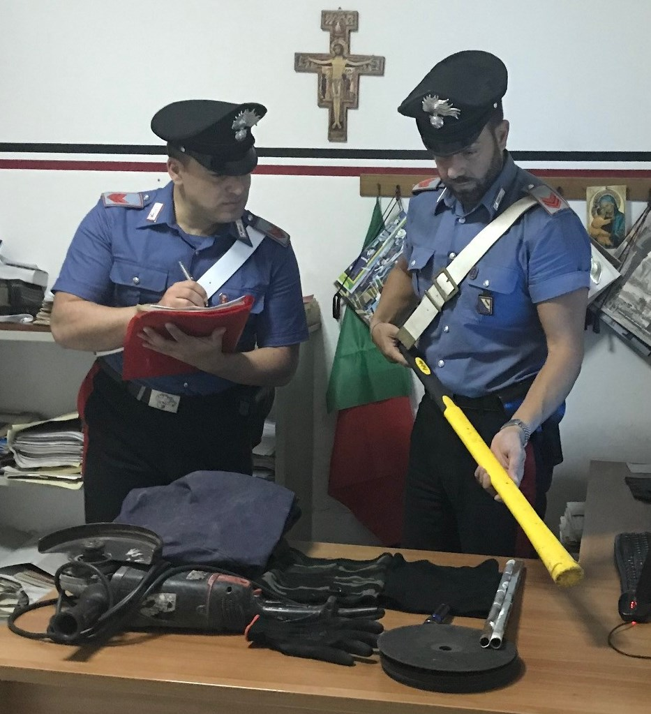 Paupisi  Contrasto ai furti: Carabinieri bloccano quattro pregiudicati baresi