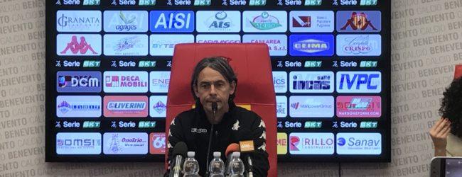 """Benevento, Inzaghi: """"Sembra quasi che qualcuno aspetti la prima sconfitta. Giocando così arriveremo lontano"""""""