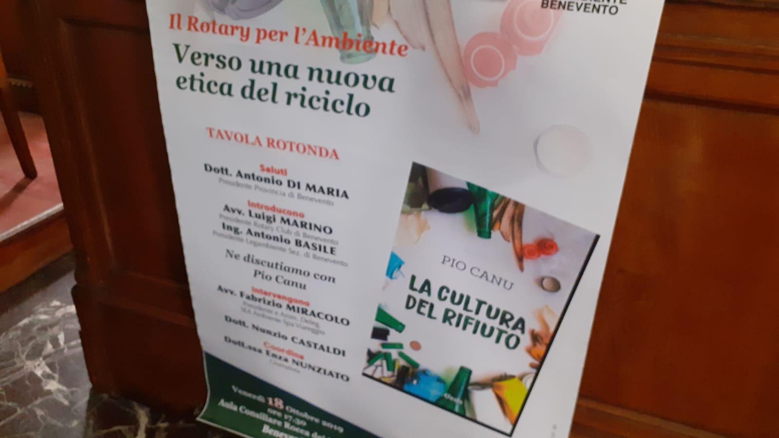 Benevento| Nuova etica del rifiuto, presentato il libro di Pio Canu