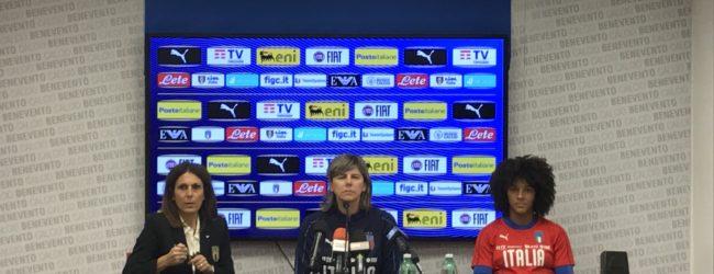"""La Nazionale Italia Femminile a Benevento. Bartolini: """"Fa piacere sentire certe parole da Inzaghi"""". Gama: """"Abbiamo ingranato"""""""