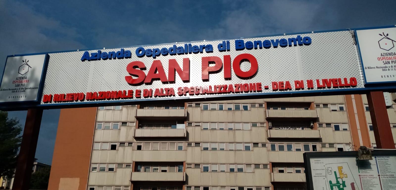 """Covid-19, un decesso al """"San Pio"""". I ricoverati restano 98"""