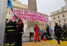 """Roma  """"Onorateci da vivi non da morti"""": vigili del Fuoco scendono in piazza. Presente anche Benevento"""