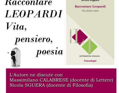 """Benevento  """"Raccontare Leopardi"""" di Michele Ruggiano al Giannone"""