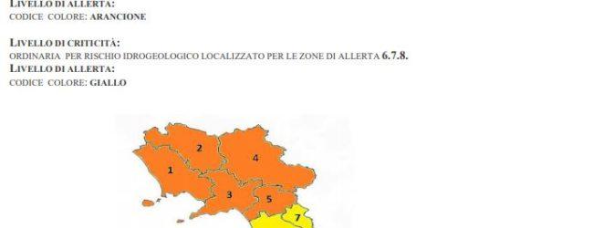 Maltempo: dalle 12 di domani e per 24 ore allerta arancione per Irpinia e Sannio