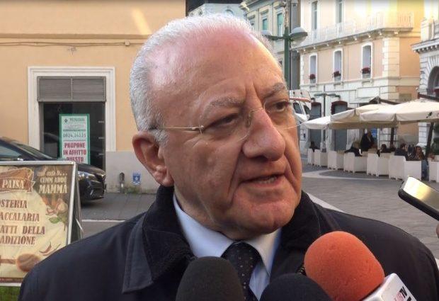 De Luca proroga la quarantena per Ariano e precisa: in Campania vietato passeggiare e fare jogging