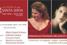 Benevento| Santa Sofia in Santa Sofia: ospiti il Soprano Schiavo e il Mezzosoprano Tufano