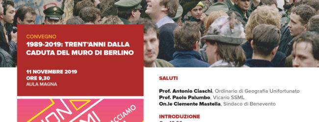 Benevento| Trent'anni dalla caduta del muro di Berlino, convegno all'Unifortunato