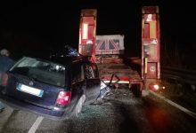 Auto tampona autoarticolato sulla Benevento- Campobasso