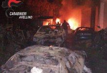 Domicella| Incendio nella notte in un'autodemolizione, indagano i carabinieri