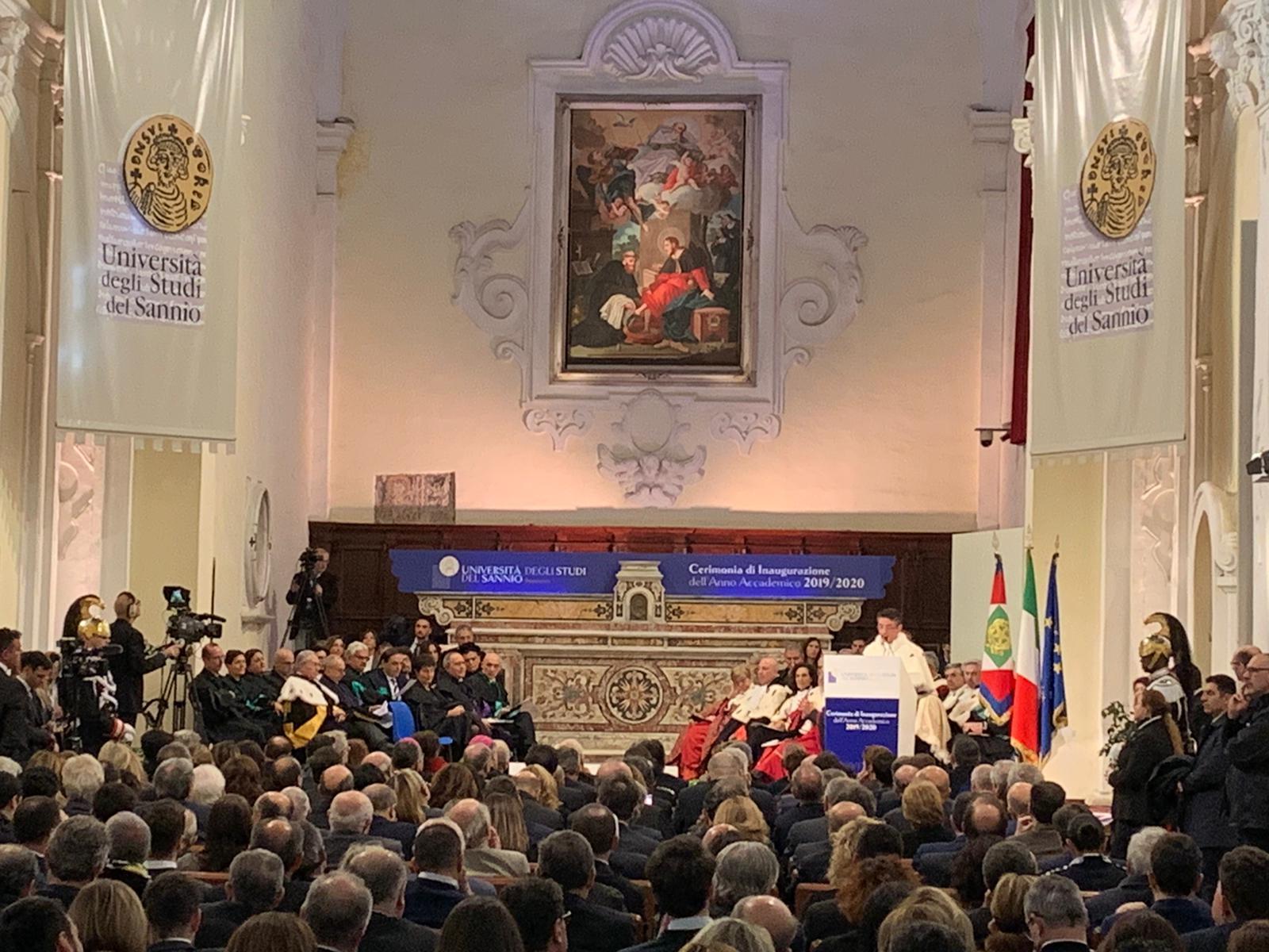 Benevento| Il discorso del Sindaco Mastella al Presidente Mattarella
