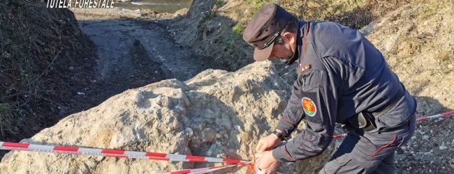 Petruro Irpino| Estrazione abusiva di materiale dal fiume Sabato, sequestro per 30mila euro. Nei guai 2 imprenditori