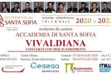 "Benevento  Accademia Santa Sofia: sabato 18 gennaio apuntamento con ""Vivaldiana"""