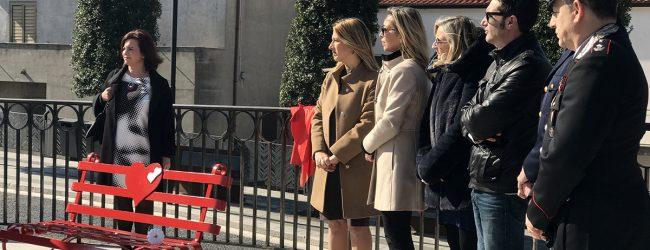 Foglianise| Inaugurata la panchina rossa contro la violenza sulle donne