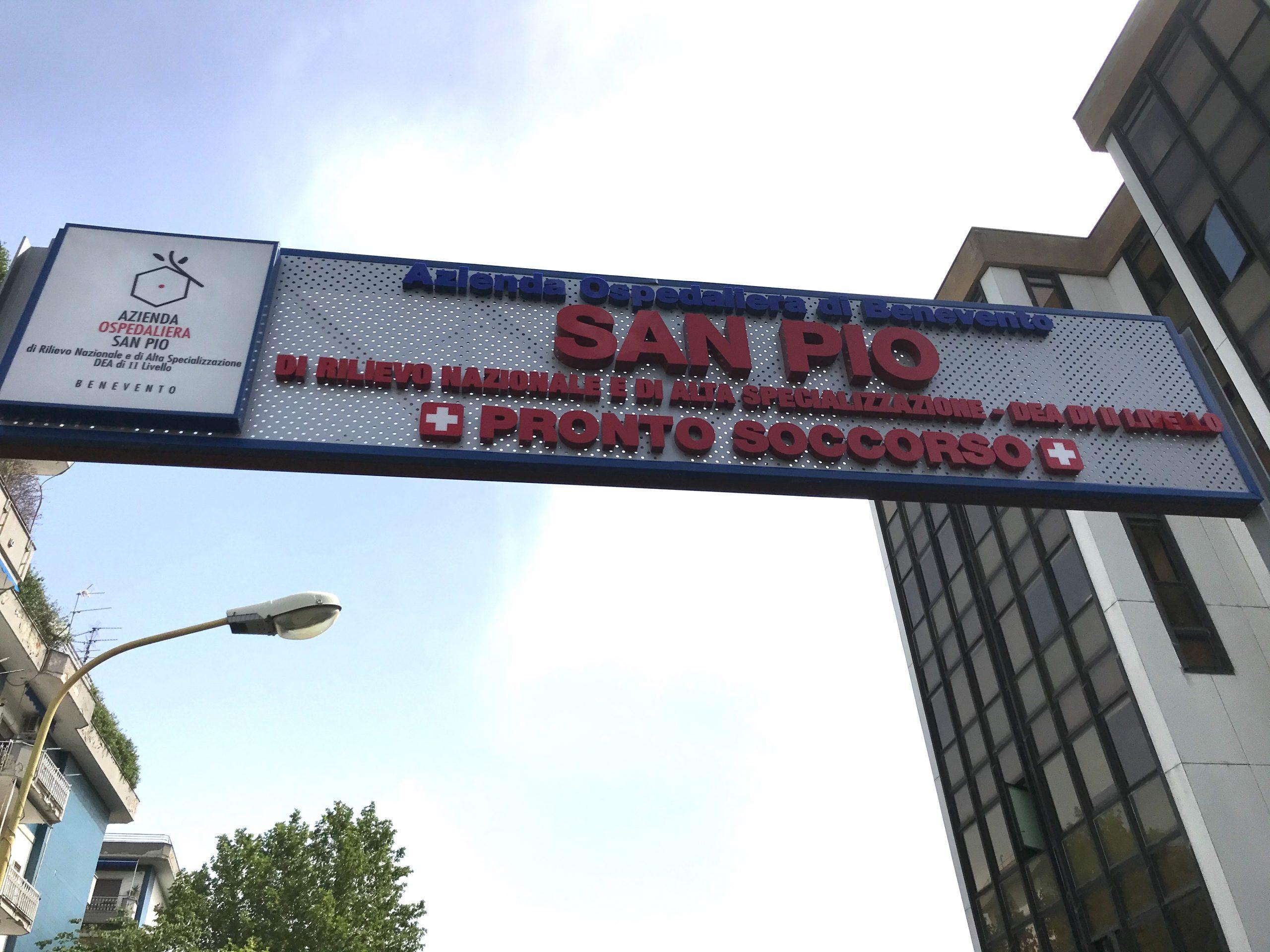Benevento| A.O San Pio: processati 78 tamponi, tutti negativi