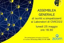 Benevento| Lunedi 25 Maggio convocata l'Assemblea generale di Civico 22