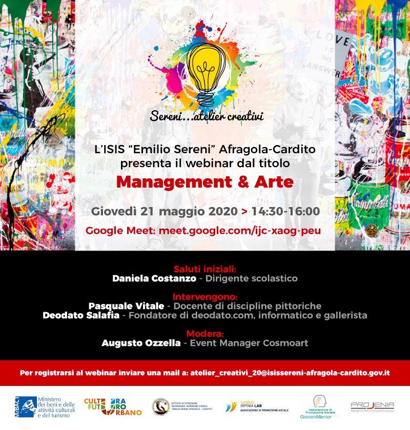 """""""Sereni…atelier creativi"""": la scuola attiva la cultura con Deodato Salafia.."""