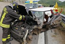 """Volturara Irpina  Incidente tra 2 auto sull'Ofantina, feriti entrambi i conducenti: uno è grave al """"Moscati"""""""