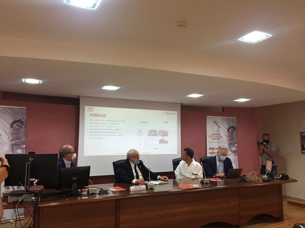 Benevento| Donazioni sangue, il San Pio presenta il nuovo sito di informazione e prenotazione