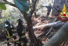 Ariano Irpino| Incendio in un deposito agricolo, vigili del fuoco al lavoro fino al mattino