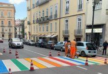 Avellino| Strisce pedonali enjoy color arcobaleno, ecco l'ultima trovata di Festa