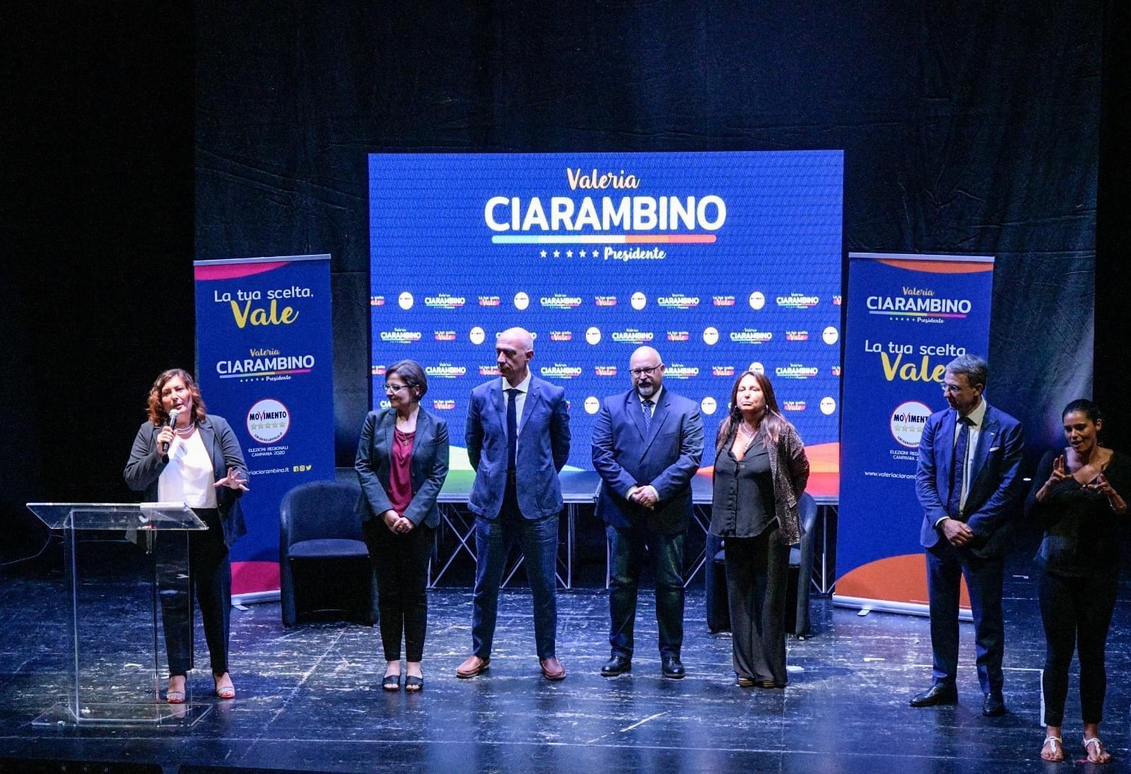 Avellino  Regionali, Ciarambino presenta i candidati irpini con Sibilia e i deputati del M5S