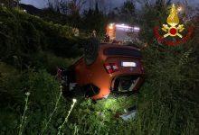 Pietrastornina| Auto sbanda e finisce in una scarpata: feriti 4 giovani