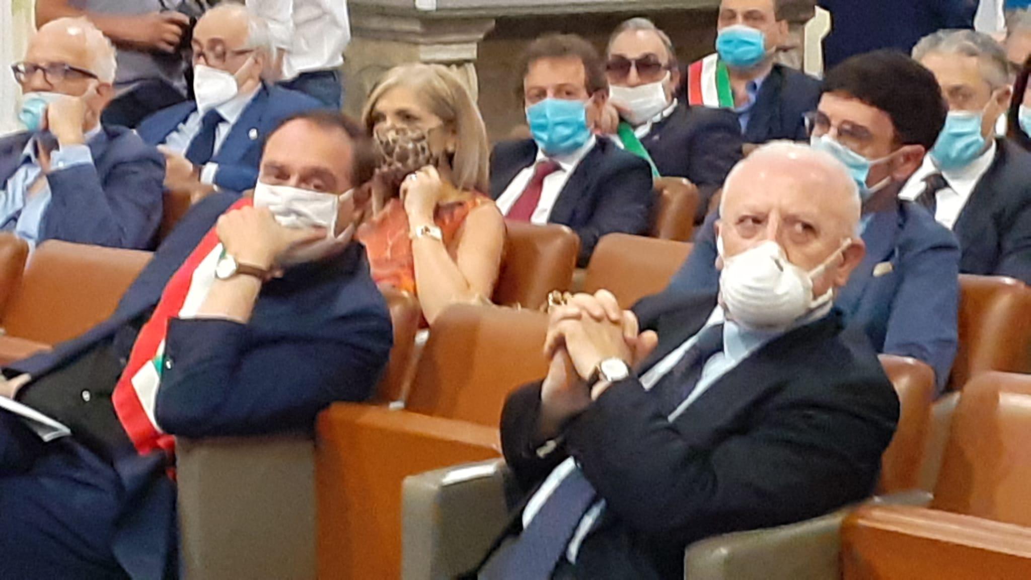 De Luca a Sant'Agostino: lavoro per abbattere la camorra