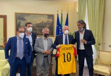 Napoli  Benevento Calcio: Vigorito,Inzaghi e Renzulli incontrano De Luca e Mortaruolo