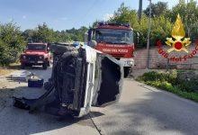 Montemarano| Si ribalta con il furgoncino, ferito 64enne di Castelfranci