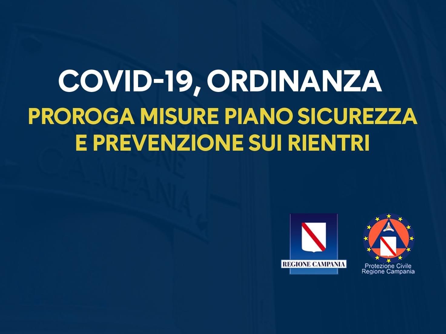 Covid-19, prorogate fino al 10 settembre  le misure sui rientri in Campania