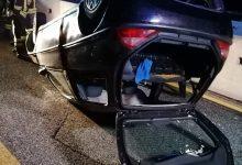 Pietradefusi| Auto sbanda e si ribalta sull'A16, paura per tre persone