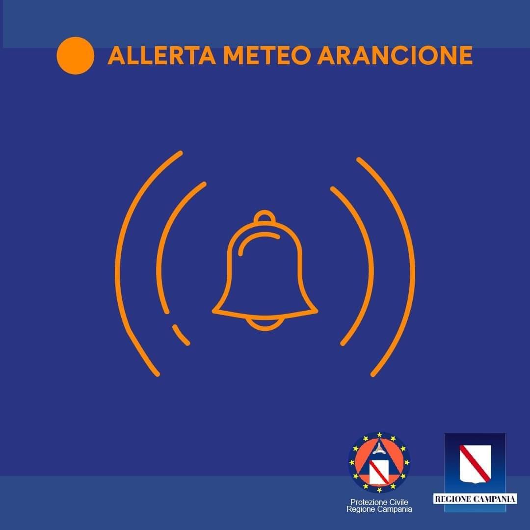 Maltempo: dalle 6 di domani e per 24 ore allerta arancione in tutta la Campania