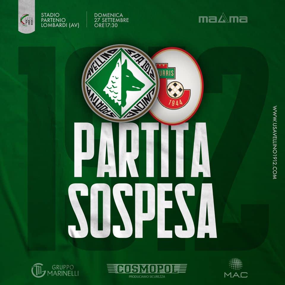 Maltempo in Irpinia, sospesa e rinviata la prima di campionato dell'Avellino