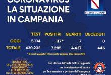 Covid-19, in Campania 117 positivi