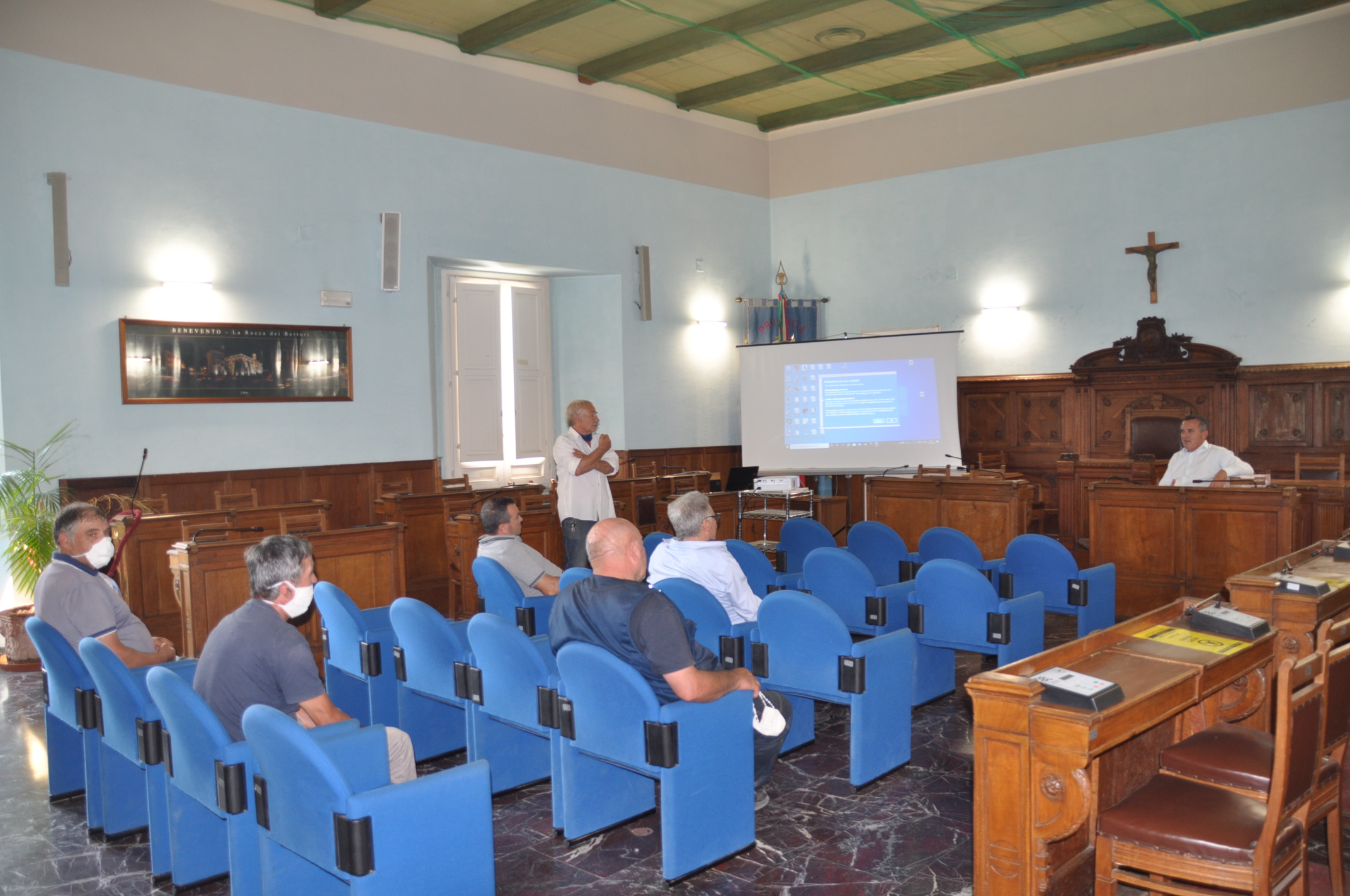 Benevento  Alla Rocca dei Rettori Di Maria incontra una delegazione dei forestali