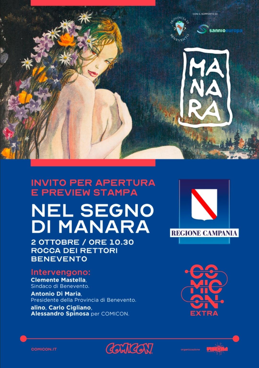 """Alla Rocca dei Rettori inaugurazione mostra """"Nel segno di Manara"""""""