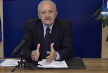 Covid-19, De Luca conferma precedente ordinanza regionale. Sulla scuola domani possibili novità