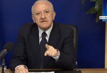 """Recovery, De Luca: """"Piano governo da 209mld ennesimo furto ai danni del Sud"""""""