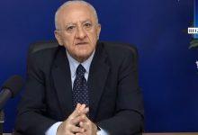 """De Luca: """"La Campania sarà la prima regione ad uscire fuori dal Covid. Da Gennaio esercitazione generale per piano vaccini"""""""