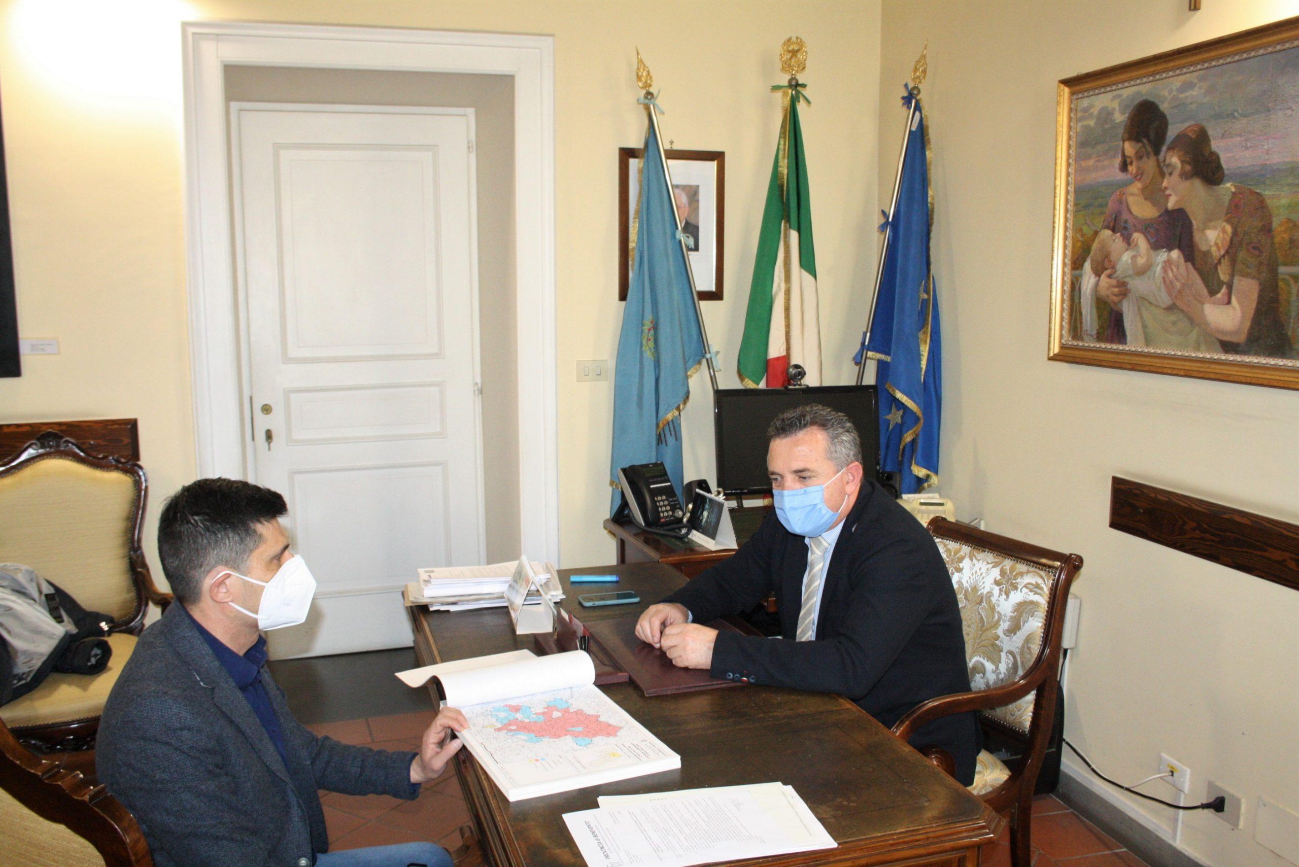Benevento| Il Presidente Di Maria incontra il sindaco di Castelpoto Fusco