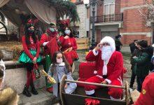 Reino| Gioia per i bambini con la slitta di Babbo Natale