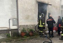 Telese Terme  Casa in fiamme, ferita una donna