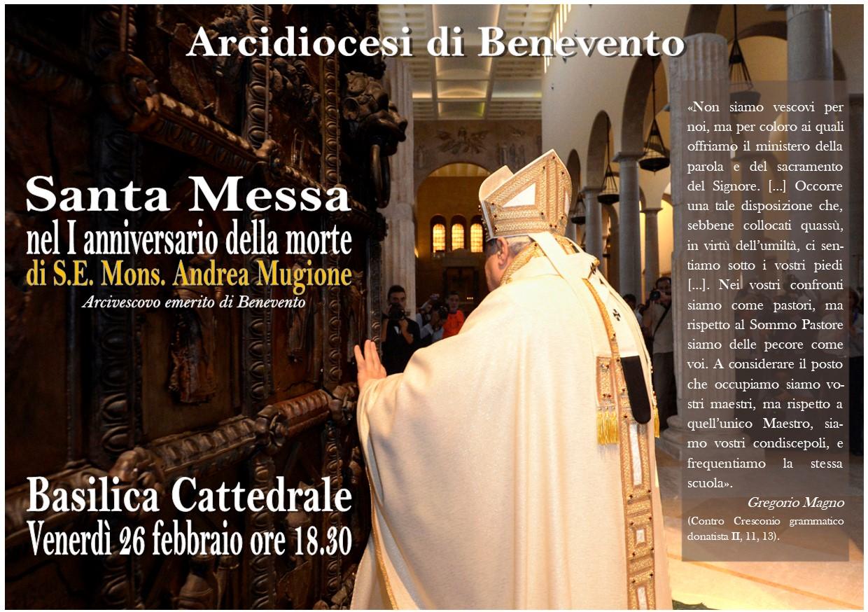 Benevento  Una santa Messa per ricordare il Vescovo Mugione
