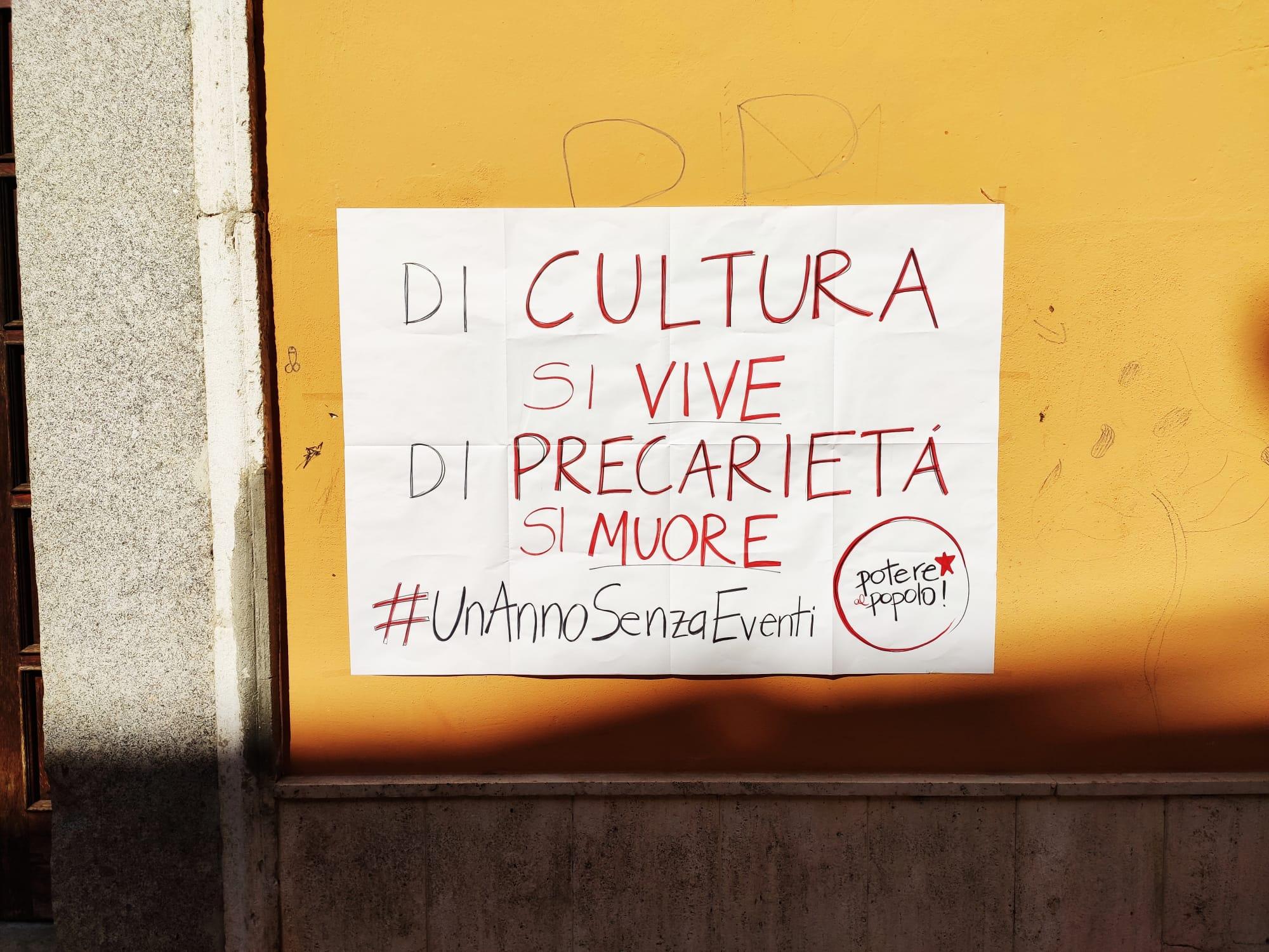"""Benevento  """"Potere al Popolo!"""" scende al fianco dei lavoratori della Cultura e dello Spettacolo"""