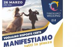 'Insieme per il wedding', nuova protesta a Caserta: vogliamo una data certa di ripartenza